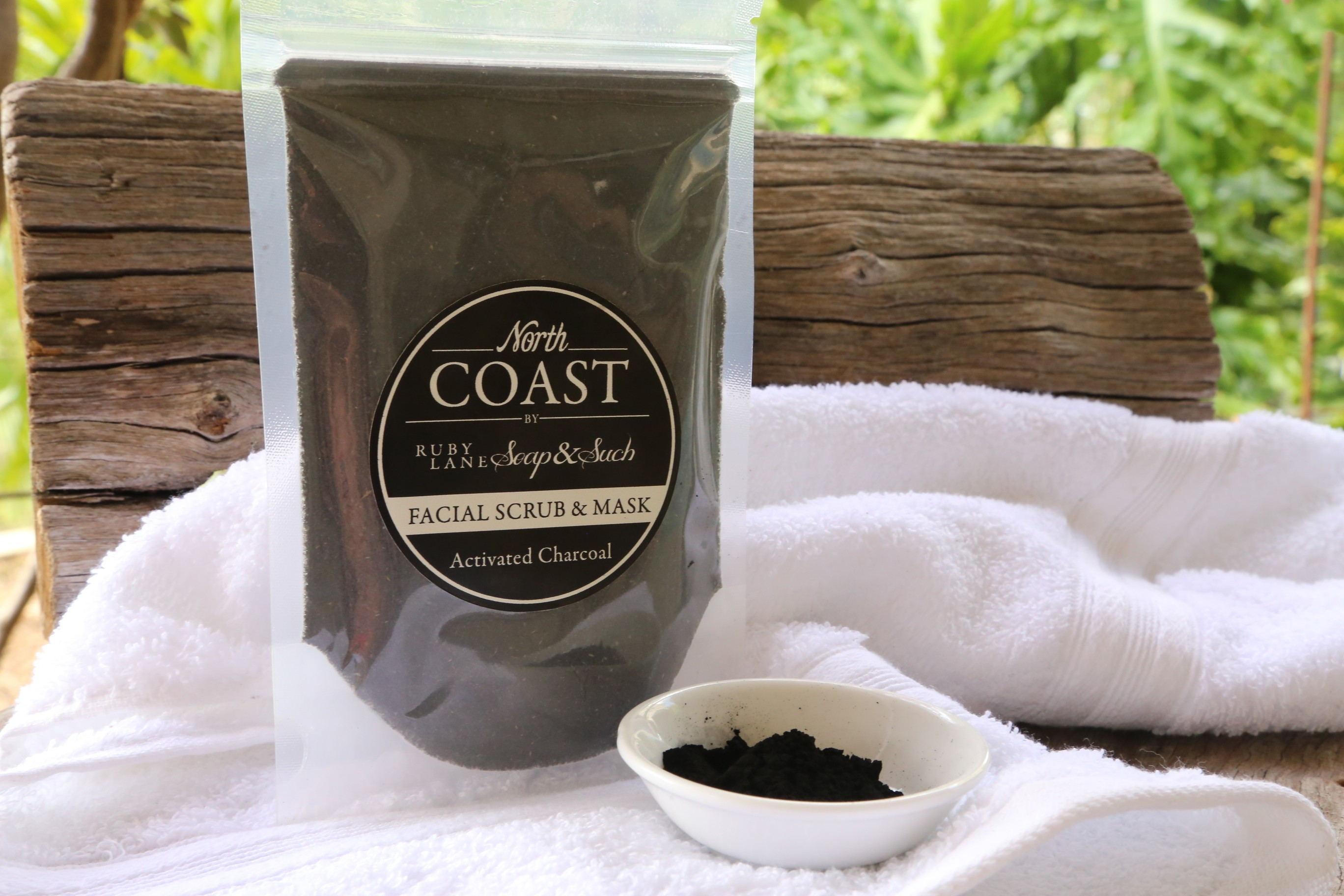 ACTIVATED CHARCOAL MASK AND SCRUB