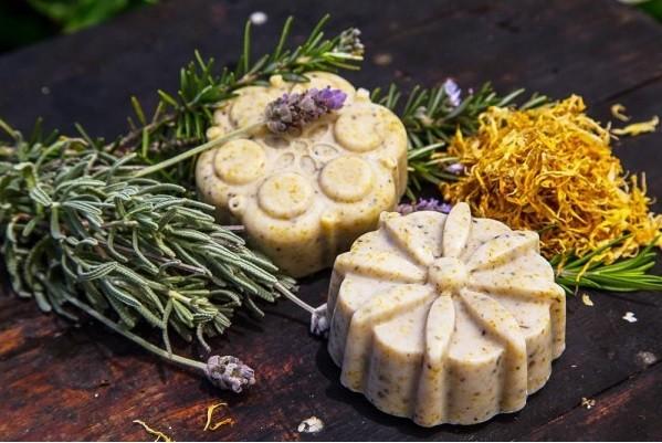 Calendula, Lavander & Rose Geranium Cold Olive Process Soap